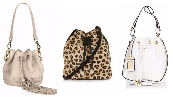 модные сумки-мешки с принтом