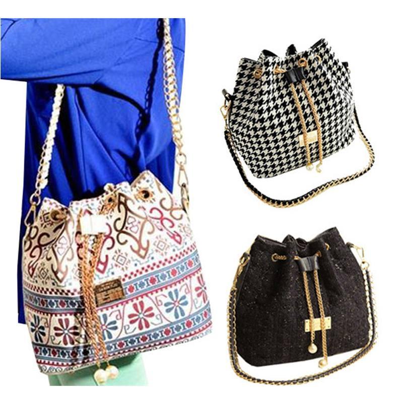 модная сумка-мешок с принтом