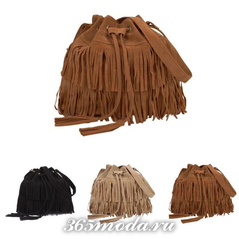 стильные сумки-гиганты: с бахромой