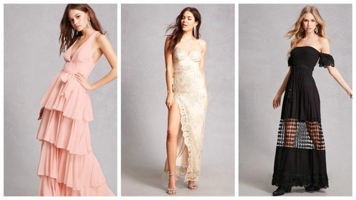 Вечерние платья: длинные
