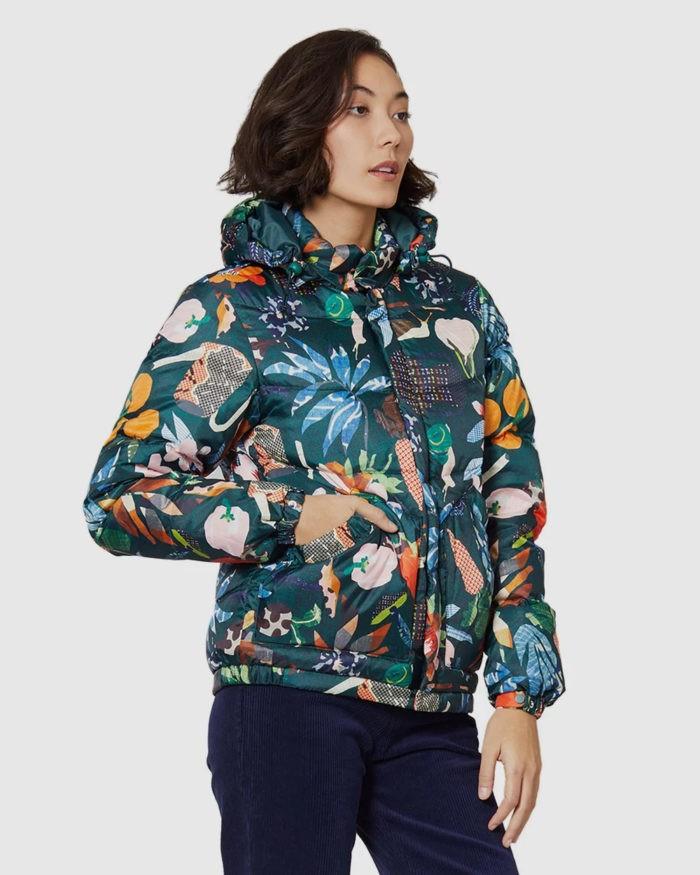 куртка с принтом дутая