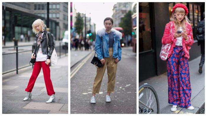 уличная мода осень-зима: брюки
