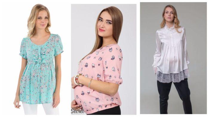 модные блузы для беременных