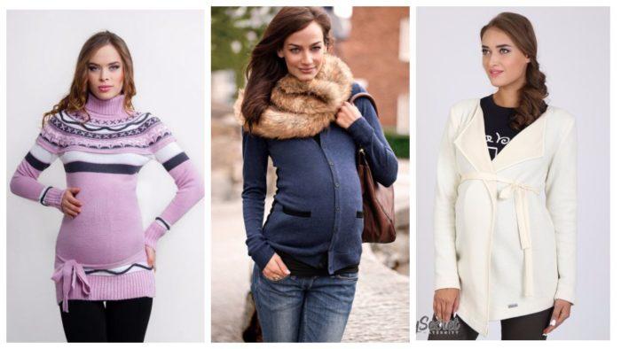 модные свитера для беременных