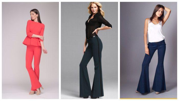 модные расклешенные брюки
