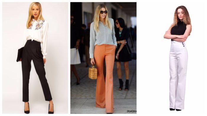 модные женские брюки осень-зима 2019-2020: с завышенной талией