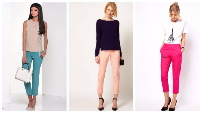 женские брюки осень-зима 2019-2020: укороченные