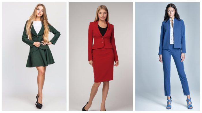 женские деловые костюмы 2019-2020: классические