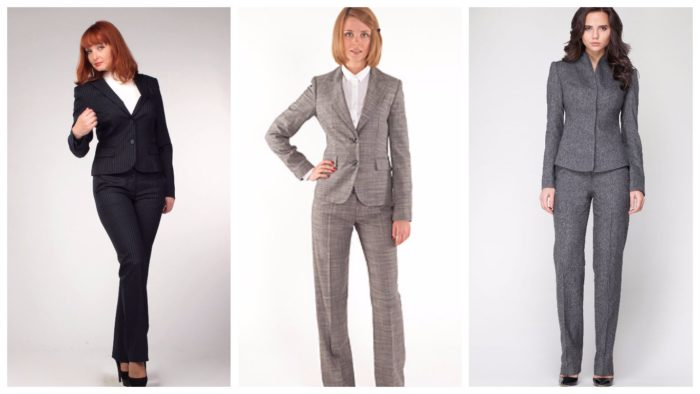 Женские деловые костюмы 2019-2020: брючные