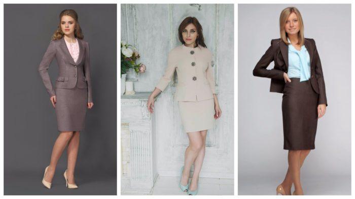 модные женские деловые костюмы 2019-2020