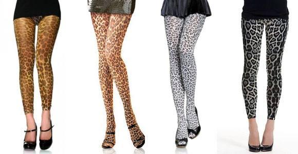 модные колготки с леопардовым принтом