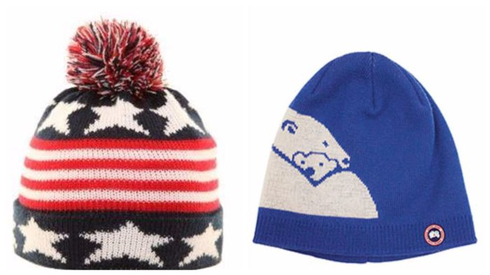 модные шапки принт