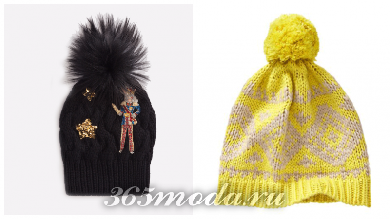 модный декор шапок