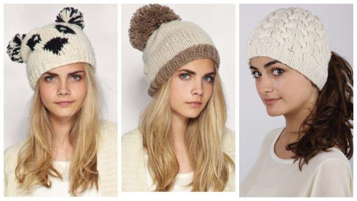 модные вязанные шапки