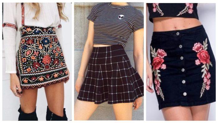 модные юбки мини