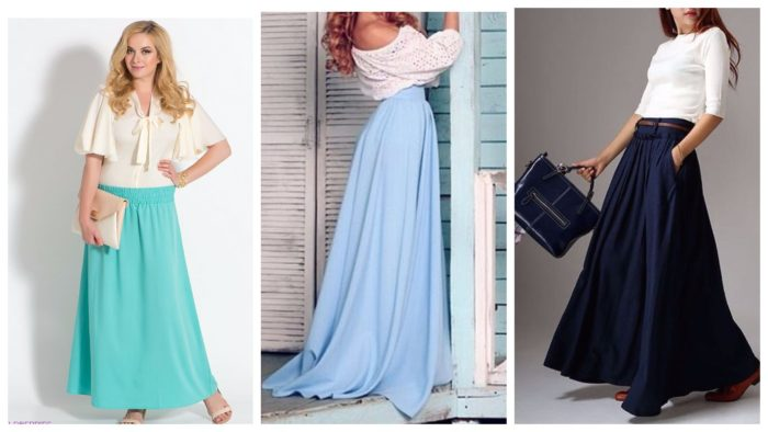 модные юбки в пол