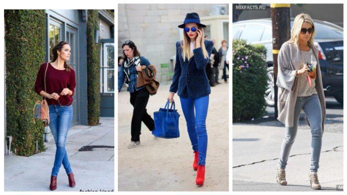 луки с джинсами и кофтами