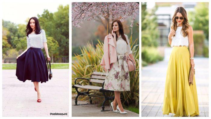модные луки с красивыми юбками