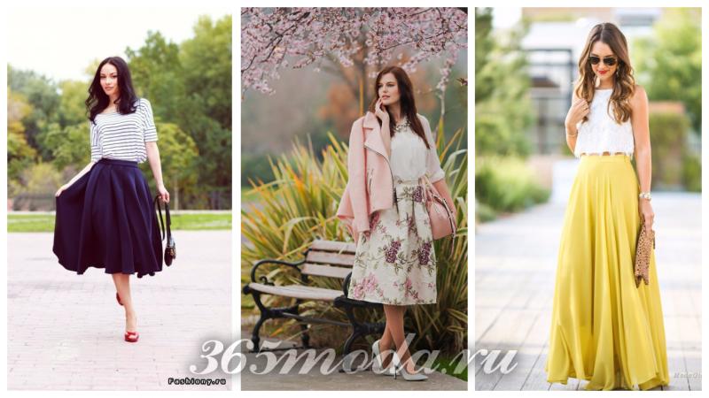 модные луки весна-лето с юбками