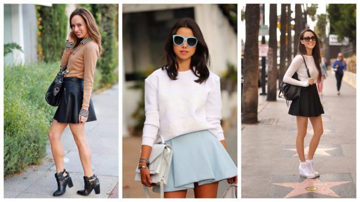 модные луки лето с юбками