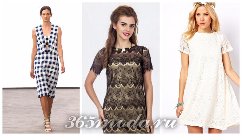 модный нейлон: платье в клеточку, платье с принтом, белое платье