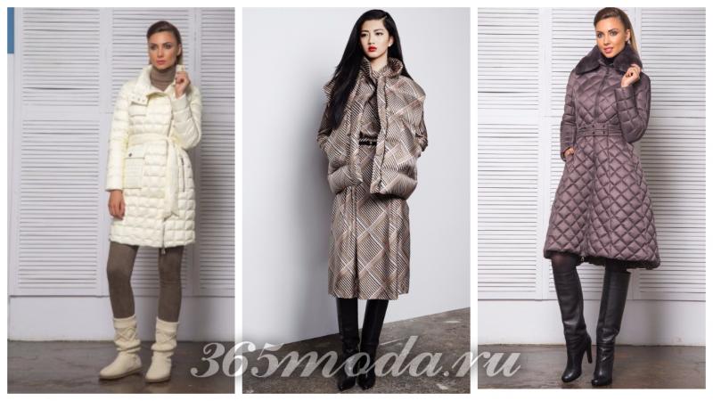 нейлон в моде: белая куртка, пальто с принтом, пальто пуховик