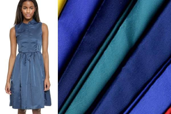 модный нейлон: синее платье