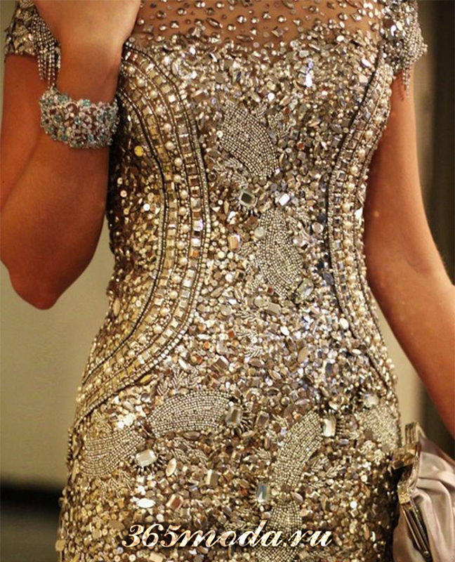 Как расшить платье камнями своими руками 59