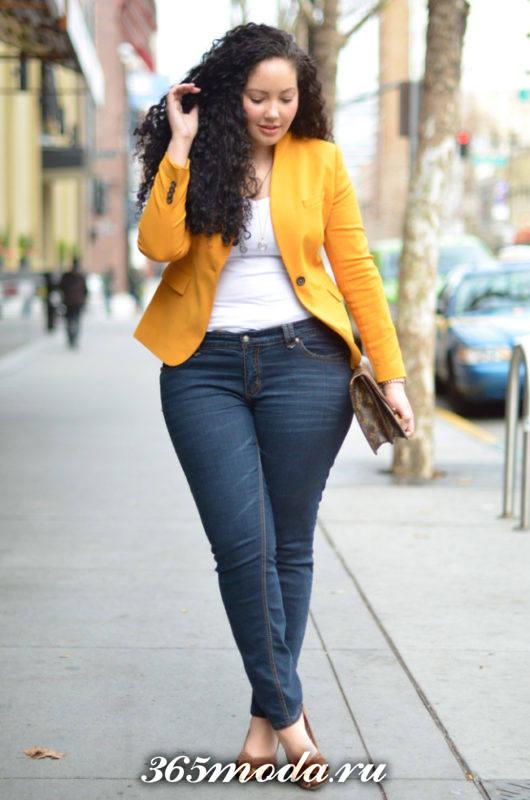 модные джинсы для полных