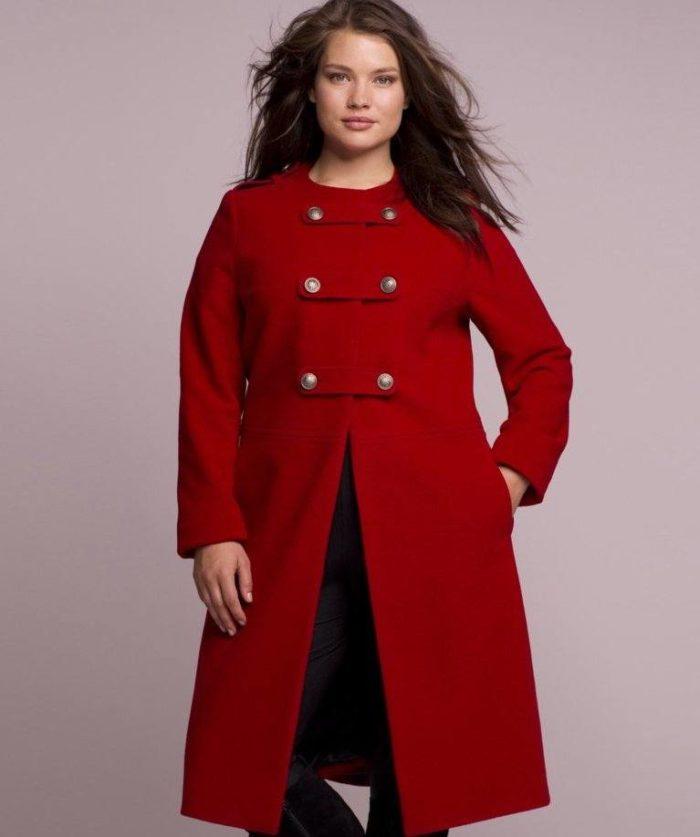 модное пальто для полных