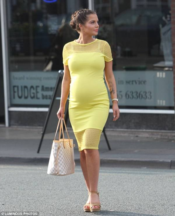 стильное вечернее платье для беременной