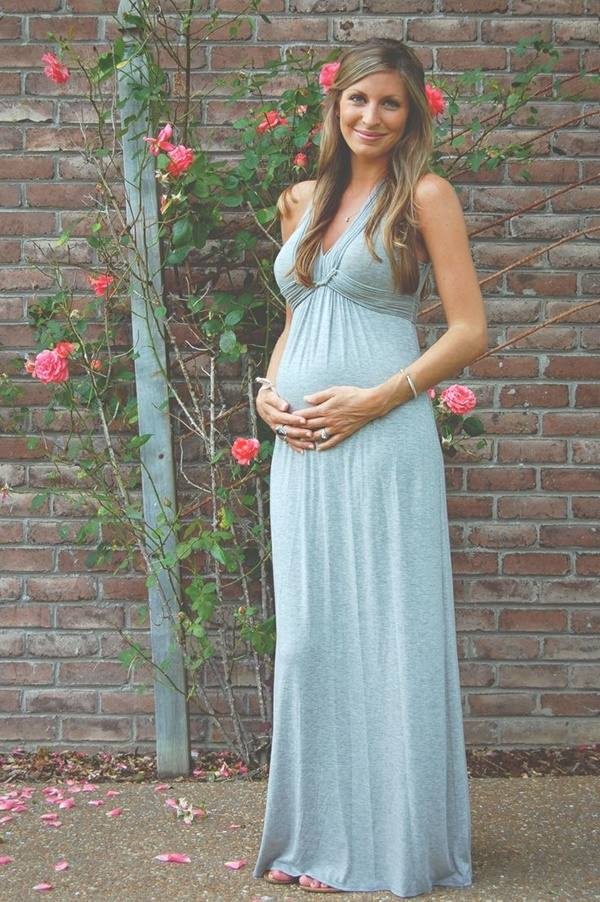 длинное платье для беременной женщины
