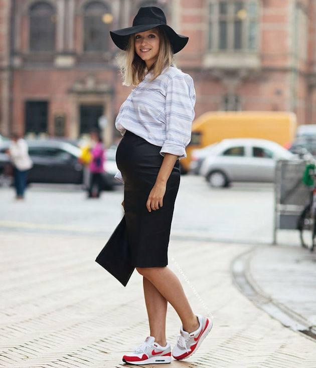 модный образ для беременных