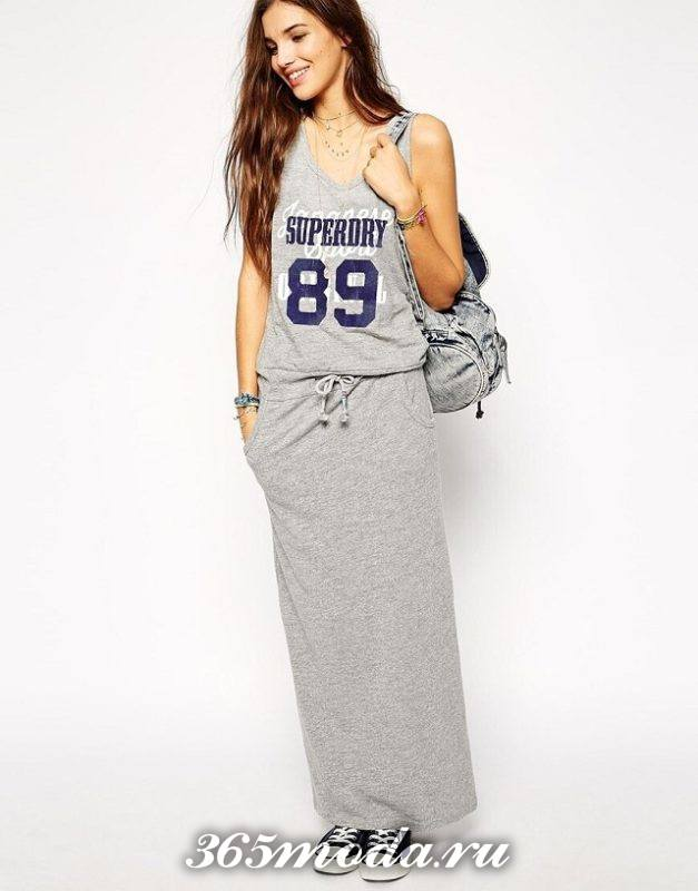 длинное спортивное платье