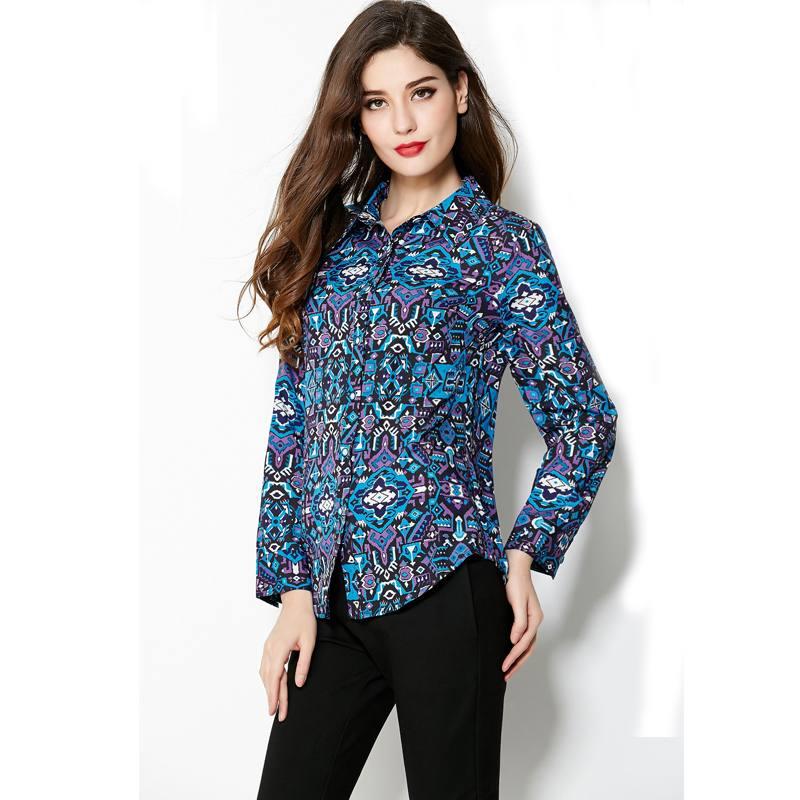 классические блузы принт