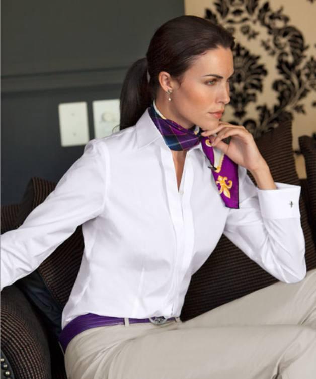 классическая блуза с шарфиком