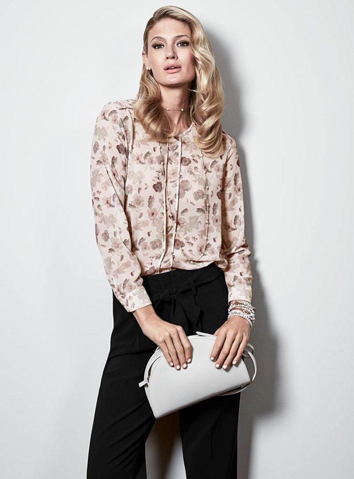 блузка мелкий принт