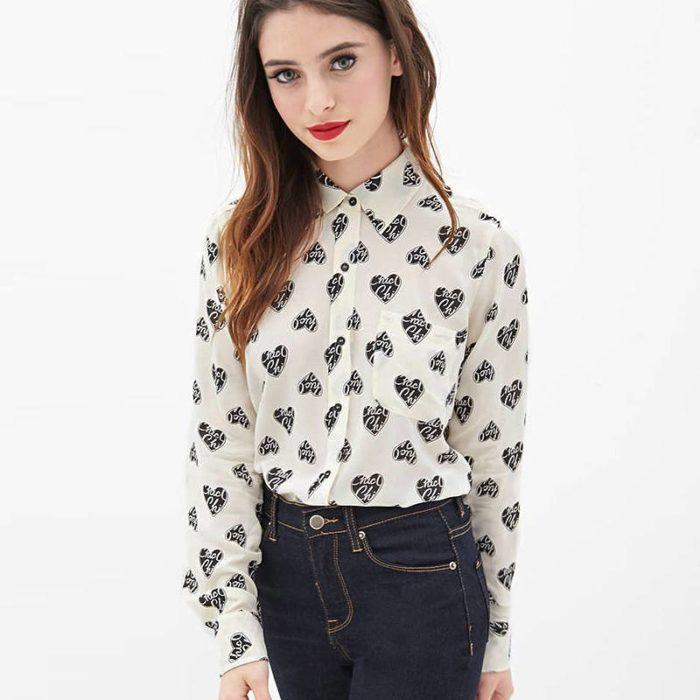 блуза в деловом стиле