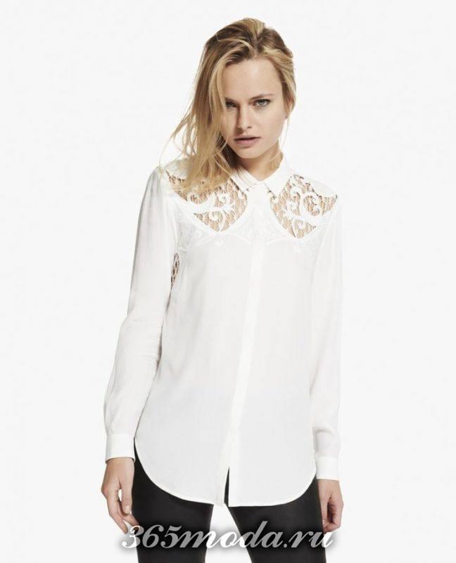 классический крой блузы
