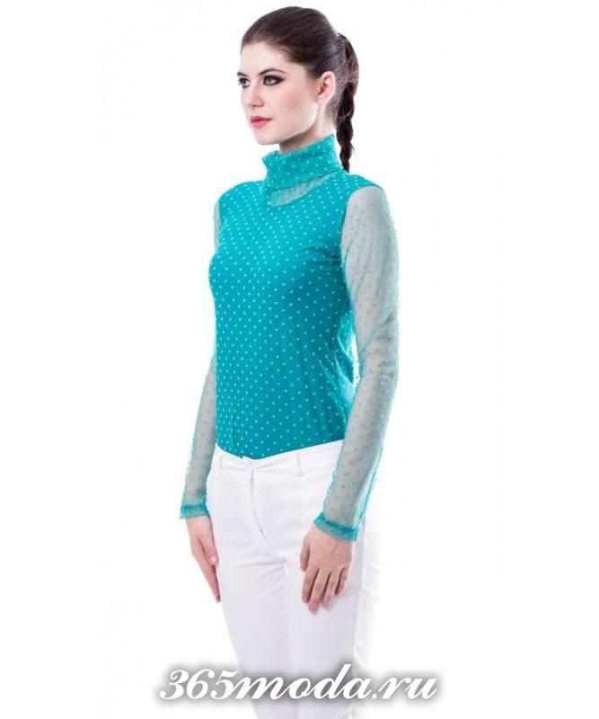 блузы и рубашки с воротником стойкой