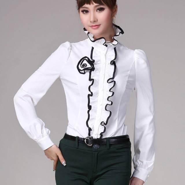 модные блузы с рюшами