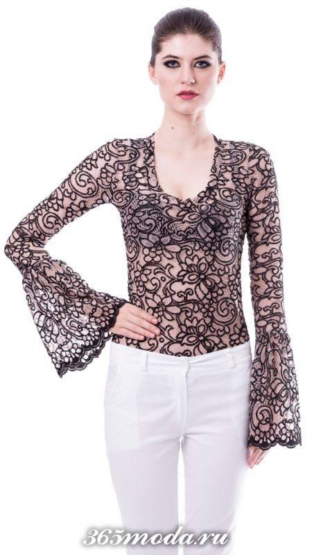 модные кружевные блузы