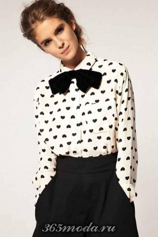 модные принты блуз