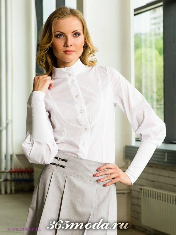 блузы с воротником стойкой
