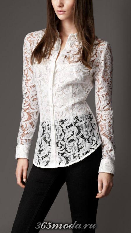 блузы из кружева