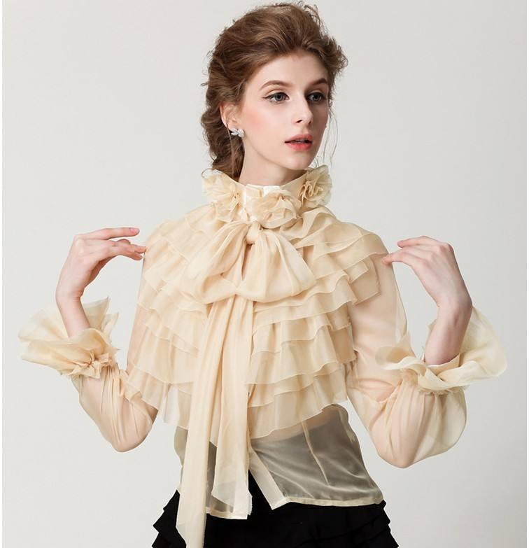 модные блузы с рюшами и оборками