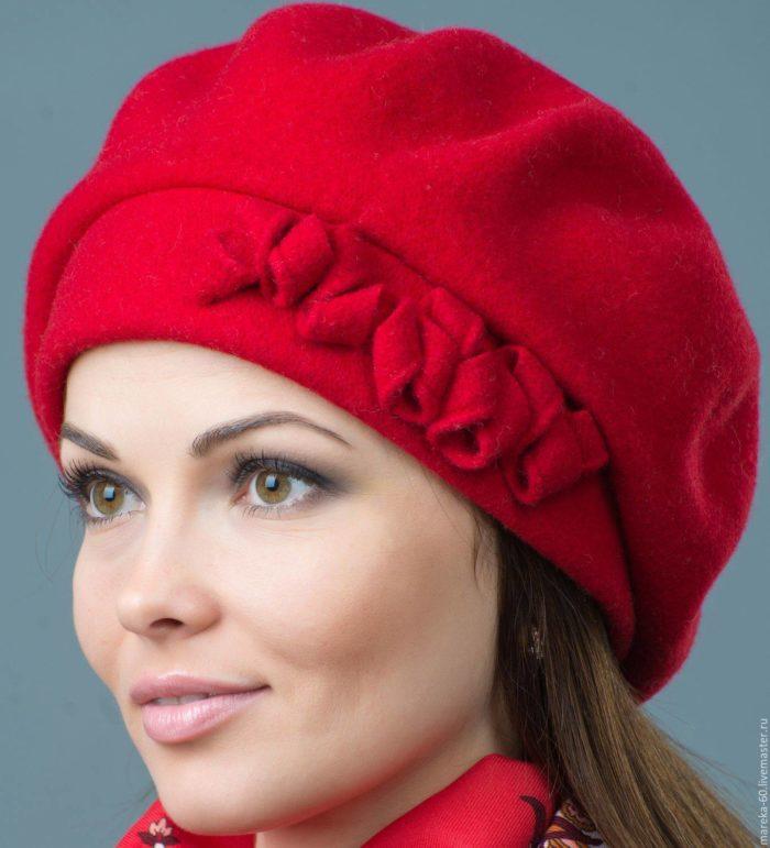 модный головной убор осень-зима: берет