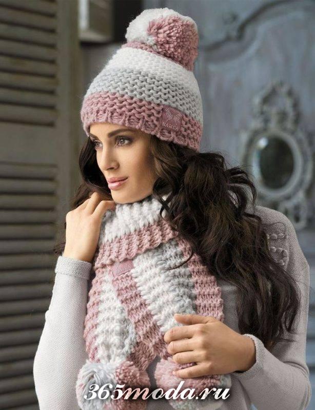 модные головные уборы осень-зима: вязаные шапки