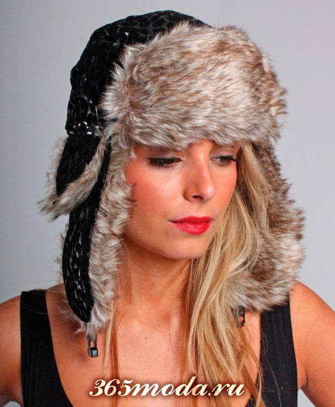 модные головные уборы осень-зима: меховая шапка ушанка