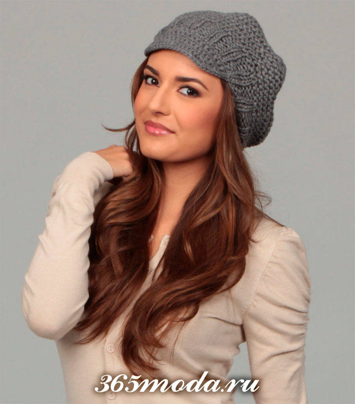 модные вязаные шапки сезона